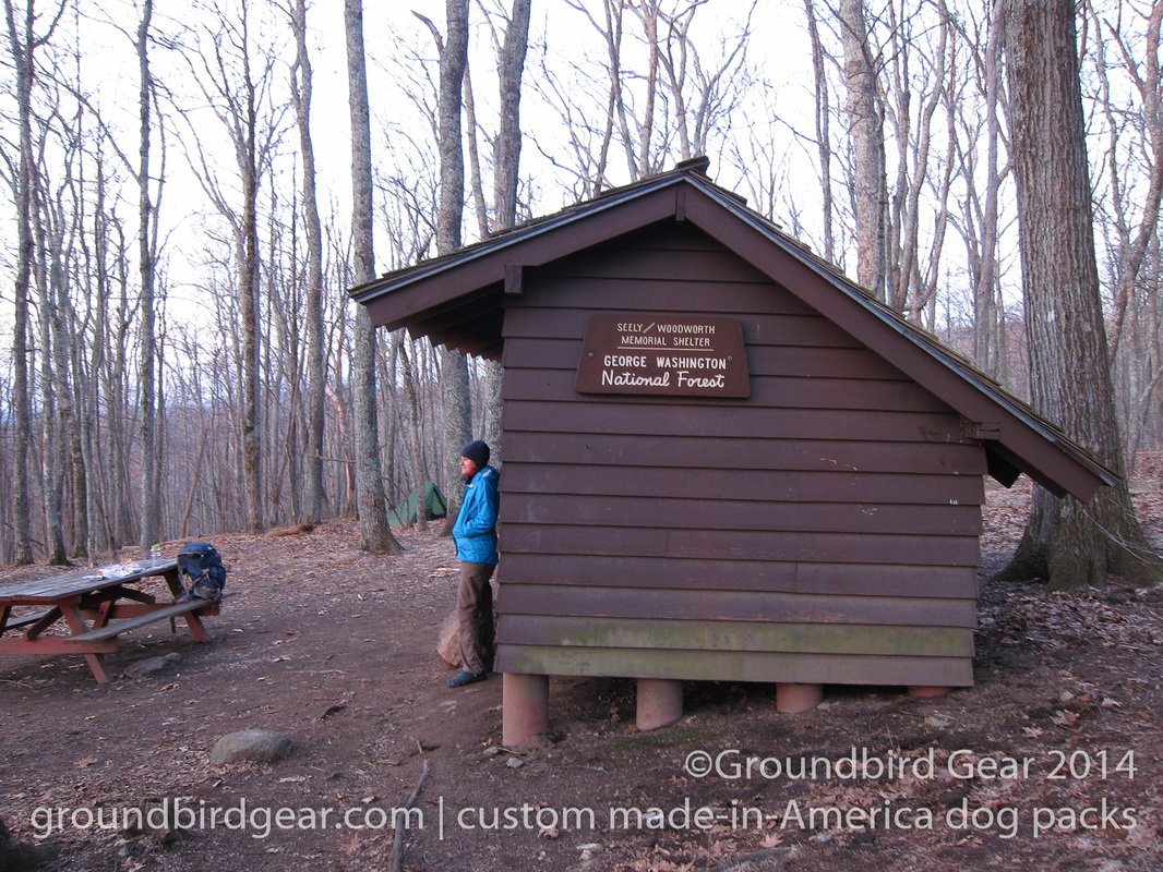 Groundbird Gear's hiking blog. Lightweight, custom fit, made in USA dog packs. For backpacking, thru-hiking, hiking with your dog! Seely Woodsworth Shelter, Appalachian Trail.