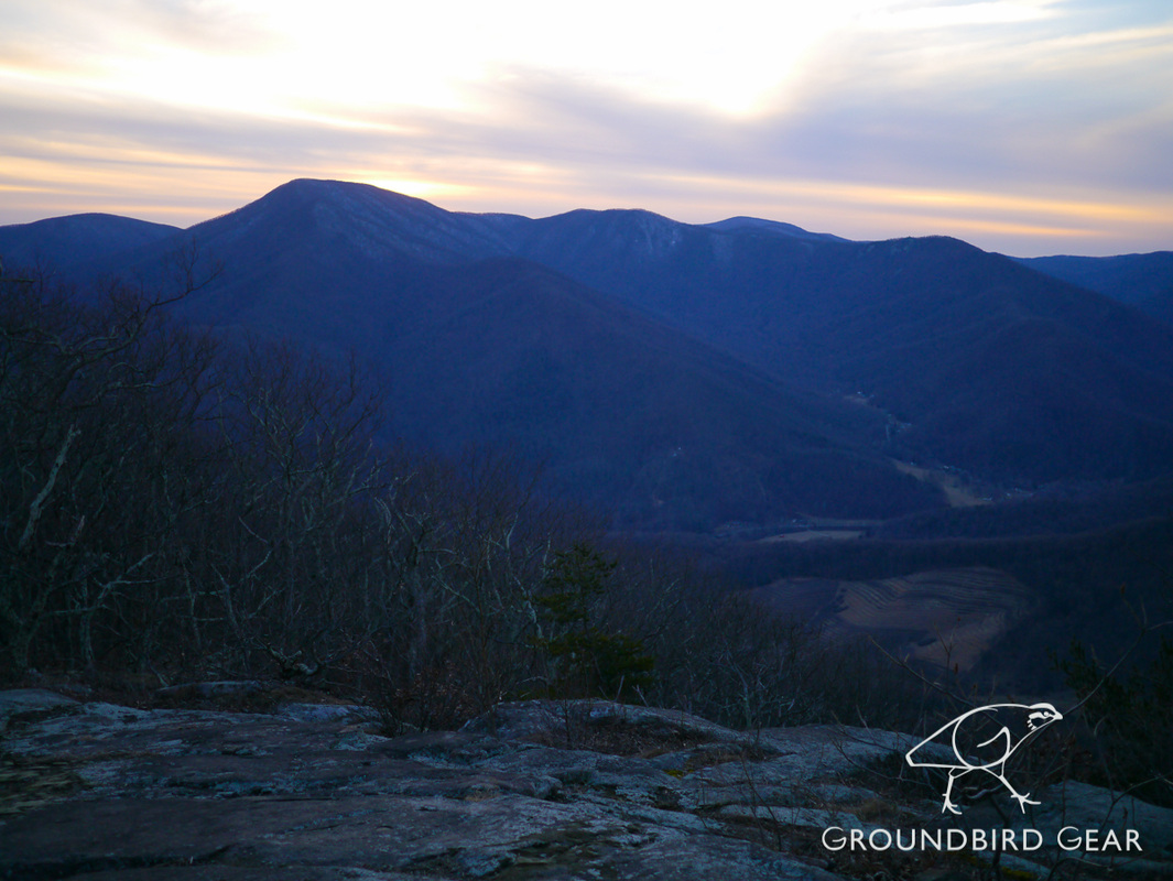 Groundbird Gear blog: Three Ridges Mountain on the Appalachian Trail and Mau-Har Trail. TATC-maintained section. Winter Backpacking trip with a dog.